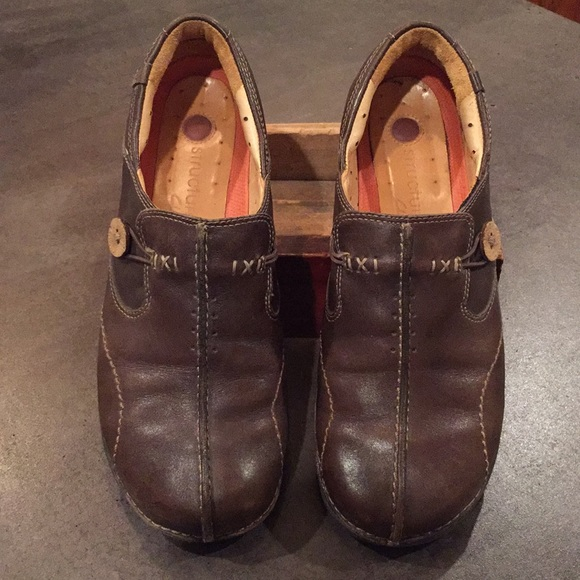 Structured Poshmark Leather Clarks Clarks ShoesBrown Poshmark ShoesBrown ShoesBrown Structured Clarks Leather y7Ybgf6